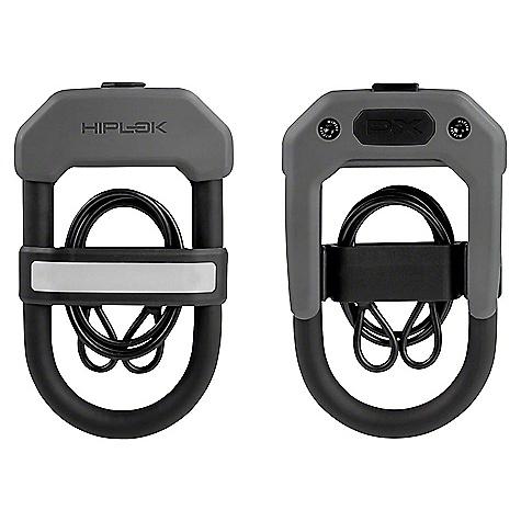 Hiplok DXC Wearable Hardened Steel Shackle U-Lock and Cable