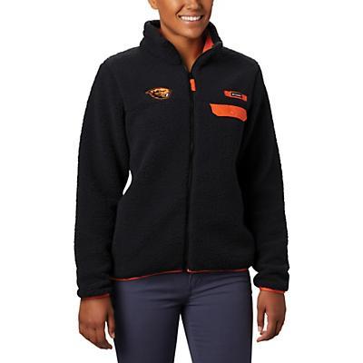 Columbia Collegiate Mountain Side Heavyweight Fleece Jacket - OSU - Black - Women