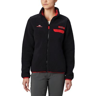 Columbia Collegiate Mountain Side Heavyweight Fleece Jacket - UGA - Black - Women