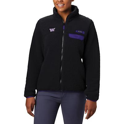 Columbia Collegiate Mountain Side Heavyweight Fleece Jacket - UW - Black - Women