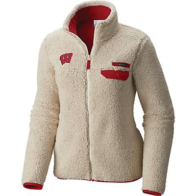 Columbia Collegiate Mountain Side Heavyweight Fleece Jacket - WIS - Chalk / Intense Red - Women