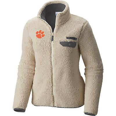 Columbia Collegiate Mountain Side Heavyweight Fleece Jacket - CLE - Chalk / Charcoal - Women