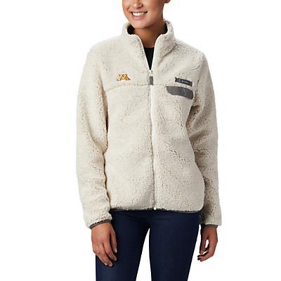 Columbia Collegiate Mountain Side Heavyweight Fleece Jacket - MN - Chalk / Charcoal - Women