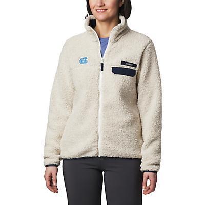 Columbia Collegiate Mountain Side Heavyweight Fleece Jacket - NC - Chalk / Collegiate Navy - Women