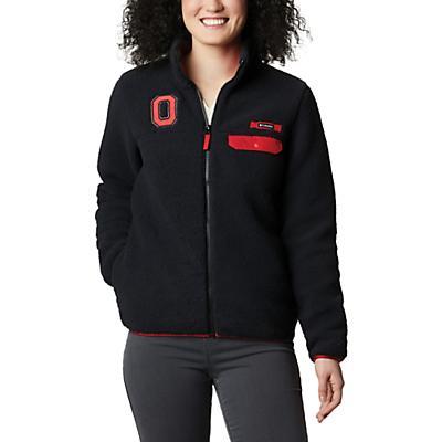 Columbia Collegiate Mountain Side Heavyweight Fleece Jacket - OS - Black - Women