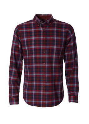 Royal Robbins Mens Lieback Flannel LS Shirt - Large - Cedar