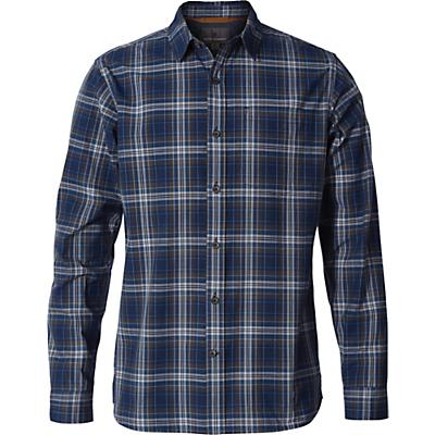 Royal Robbins Mens Trouvaille Plaid LS Shirt - Deep Blue