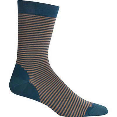 Icebreaker Lifestyle Fine Gauge Crew Micro Stripe Sock - Nightfall