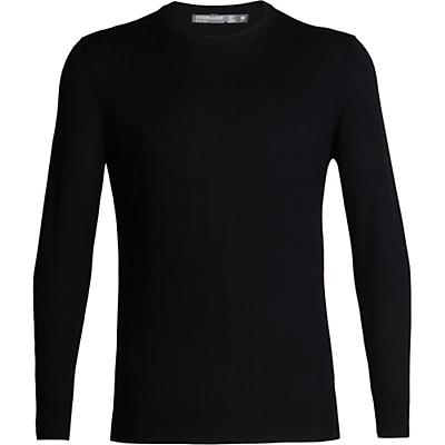 Icebreaker Shearer Crewe Sweater - Black - Men