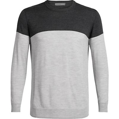 Icebreaker Shearer Crewe Sweater - Char Heather / Steel Heather - Men