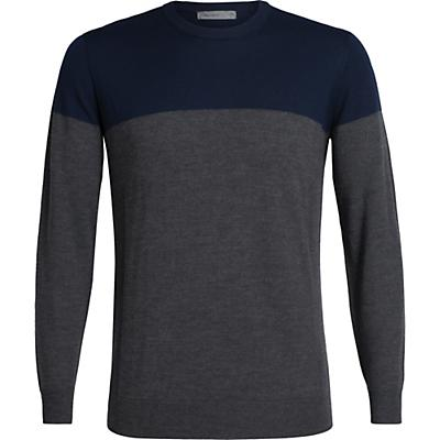 Icebreaker Shearer Crewe Sweater - Midnight Navy / Char Heather - Men