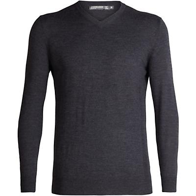 Icebreaker Shearer V Sweater - Char Heather - Men