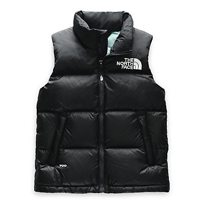 The North Face Youth 1996 Retro Nuptse Down Vest - TNF Black / Windmill Blue