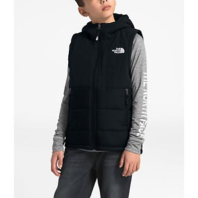 The North Face Youth Balanced Rock Insulated Hooded Vest - TNF Black