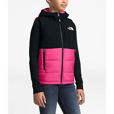 The North Face Youth Balanced Rock Insulated Hooded Vest - Mr. Pink