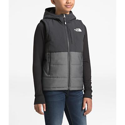 The North Face Youth Balanced Rock Insulated Hooded Vest - TNF Medium Grey Heather