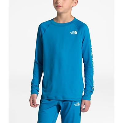 The North Face Youth Poly Warm Crew Top - Acoustic Blue