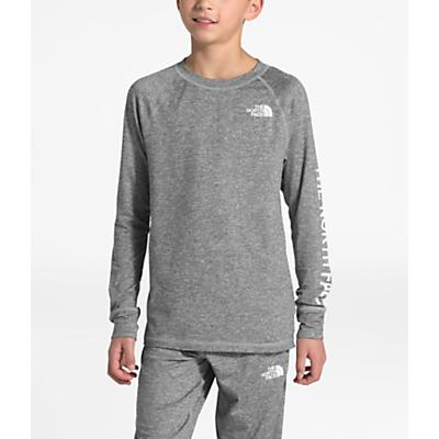 The North Face Youth Poly Warm Crew Top - TNF Medium Grey Heather