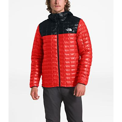 The North Face ThermoBall Eco Hoodie - Fiery Red / TNF Black - Men