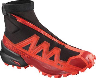 Salomon Snowspike CS Waterproof Shoe - Black / Racing Red / Red Dahlia