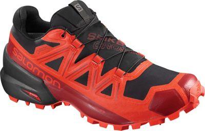 Salomon Spikecross 5 GTX Shoe - Black / Racing Red / Red Dahlia