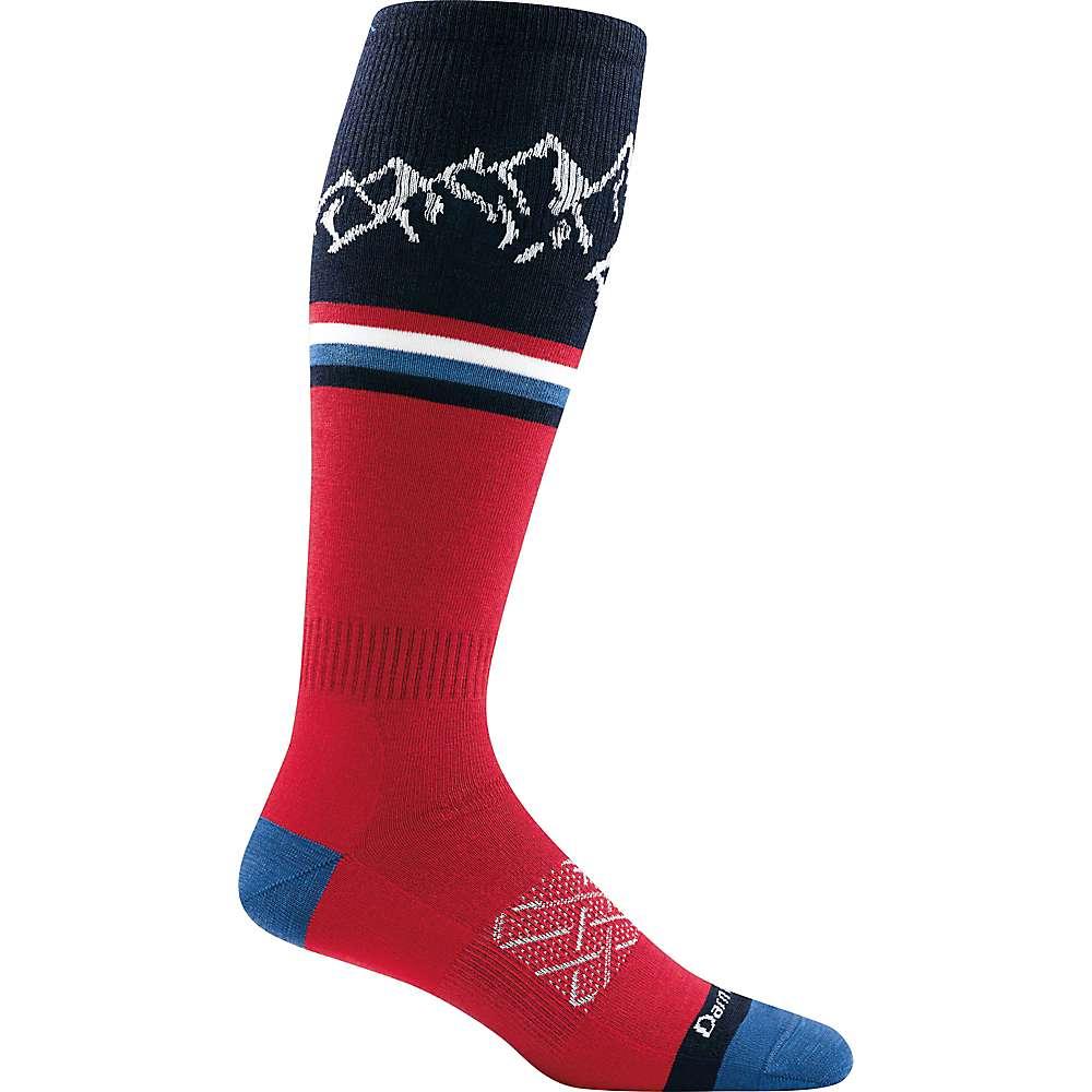 Darn Tough Men's Alpenglow OTC Light Sock - Medium - Red
