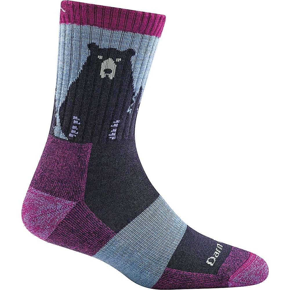Darn Tough Women's Bear Town Micro Crew Light Cushion Sock - Small - Purple
