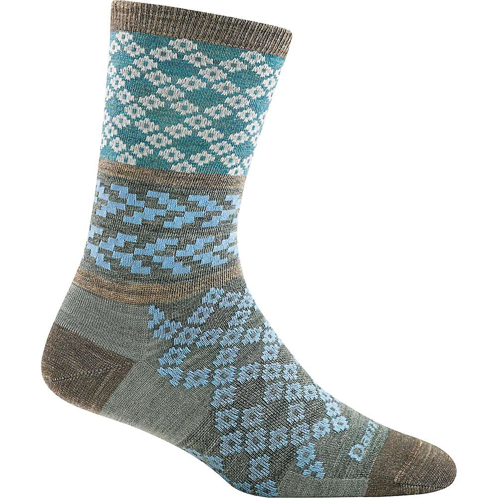 Darn Tough Women's Greta Crew Light Sock - Large - Aqua