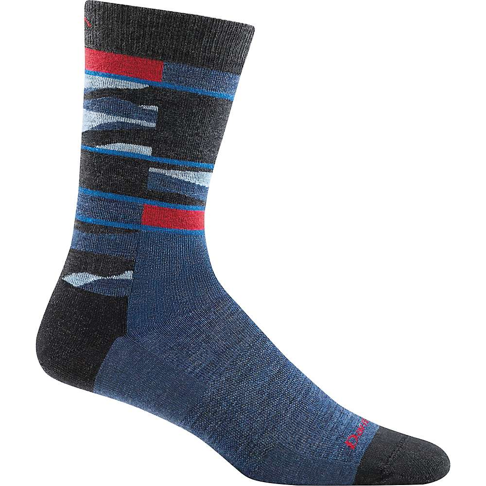 Darn Tough Men's Icefields Crew Light Sock - Large - Denim