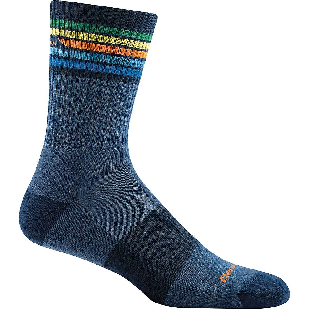 Darn Tough Men's Kelso Micro Crew Light Cushion Sock - Medium - Denim