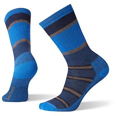Smartwool Hike Medium Stripe Crew Sock - Alpine Blue