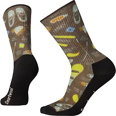 Smartwool Hike Light Hut Trip Printed Crew Sock - Charcoal
