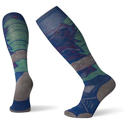 Smartwool PhD Ski Light Elite Pattern Sock - Alpine Blue