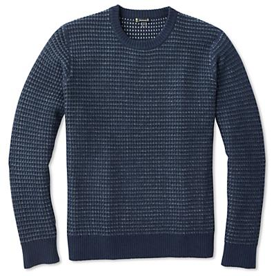 Smartwool Ripple Ridge Tick Stitch Crew Sweater - Deep Navy Heather - Men