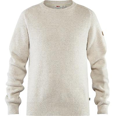 Fjallraven Greenland Re-Wool Crew-Neck Sweater - Chalk White - Men