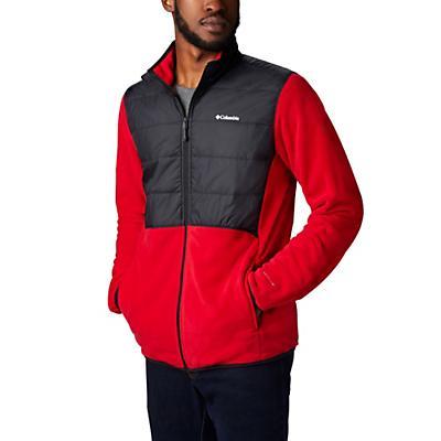 Columbia Basin Butte Fleece Full Zip Jacket - Mountain Red/Black - Men