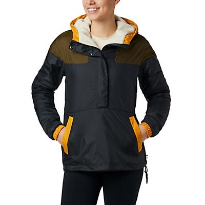 Columbia Columbia Lodge Pullover Jacket - Matte Black / Olive Green / Raw Honey - Women