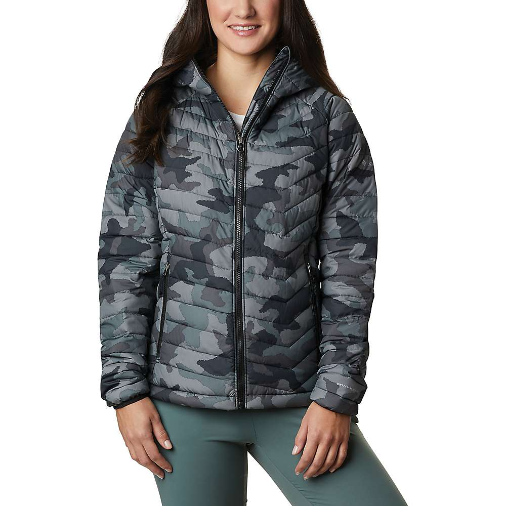 Columbia Women's Powder Lite Hooded Jacket – Small – Black Traditional Camo Print
