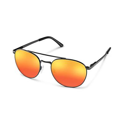 Suncloud Motorist Sunglasses - Matte Black / Red Mirror