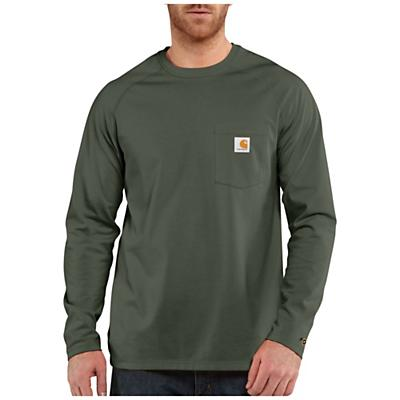 Carhartt Force Cotton Delmont LS T-Shirt - Moss - Men