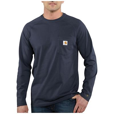 Carhartt Force Cotton Delmont LS T-Shirt - Navy - Men