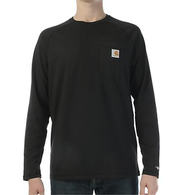 Carhartt Force Cotton Delmont LS T-Shirt - Black - Men