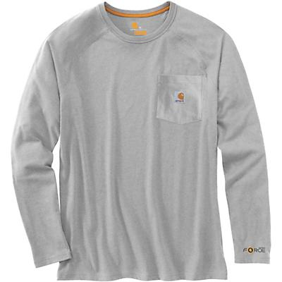 Carhartt Force Cotton Delmont LS T-Shirt - Heather Grey - Men