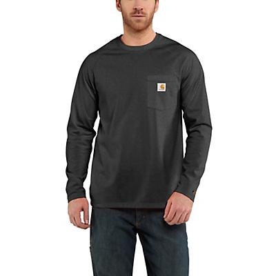 Carhartt Force Cotton Delmont LS T-Shirt - Carbon Heather - Men