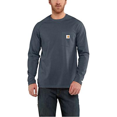 Carhartt Force Cotton Delmont LS T-Shirt - Dark Slate Heather - Men
