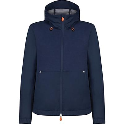 Save The Duck Womens Hooded Lightweight Mid-length Jacket - 1-S - Navy Blue