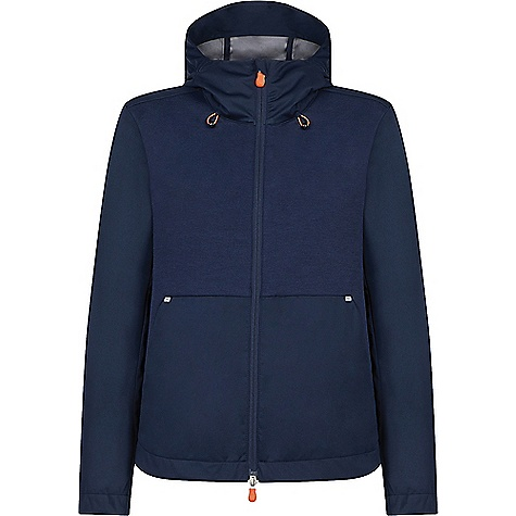 Save The Duck Womens Hooded Lightweight Mid-length Jacket Navy Blue Save The Duck Womens Hooded Lightweight Mid-length Jacket - Navy Blue - in stock now. FEATURES of the Save The Duck Womens Hooded Lightweight Mid-length Jacket Bi-material hooded jacket Practical and compact for rain or shine 75% Polyester, 25% Cotton Ideal characteristics for athletic wear, breathability and quick dry