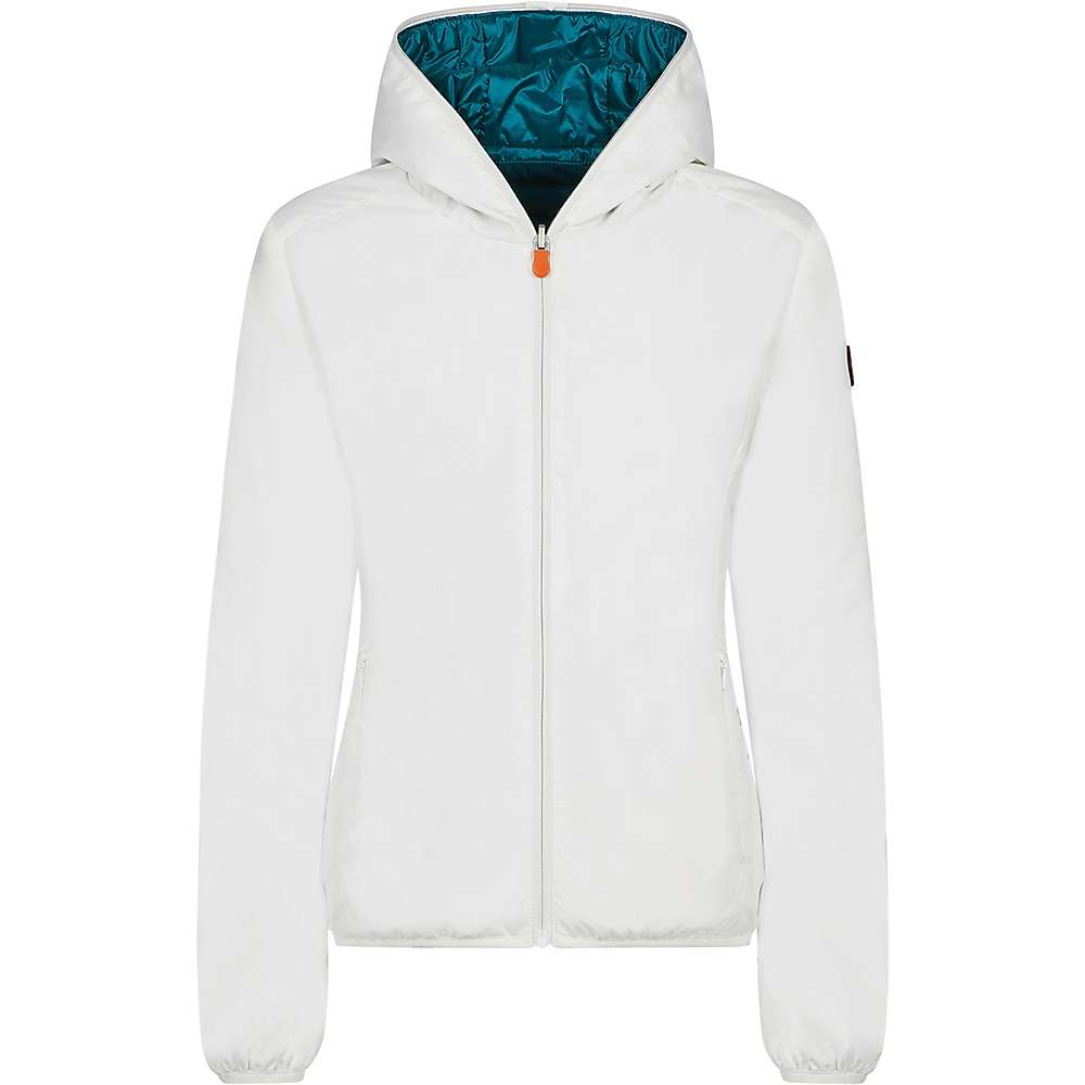 Save The Duck Womens Recycled Reversible Hooded Jacket - 1-S - Coconut White