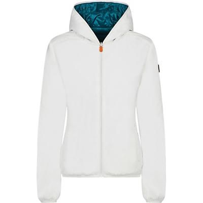 Save The Duck Womens Recycled Reversible Hooded Jacket - 2-M - Coconut White