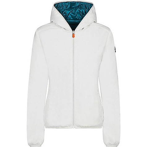 Save The Duck Womens Recycled Reversible Hooded Jacket Coconut White Save The Duck Womens Recycled Reversible Hooded Jacket - Coconut White - in stock now. FEATURES of the Save The Duck Womens Recycled Reversible Hooded Jacket Rain jacket with adjustable hood Stretch string and waterproof zip with double sider Two pockets on the breast and two side pockets with zip closure Practical and compact Can be easily carried using its bag Reversible 100% Polyester